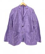 allegri(アレグリ)の古着「リネン混ジャケット」|パープル
