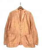 allegri(アレグリ)の古着「リネン混ジャケット」|オレンジ