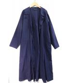 mizuiro-ind(ミズイロインド)の古着「コットンリネンガウンカーディガン」|ネイビー