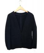ANAYI(アナイ)の古着「ノーカラージャケット」|ネイビー