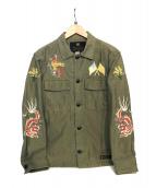 NEIGHBORHOOD(ネイバーフッド)の古着「刺繍シャツジャケット」|オリーブ