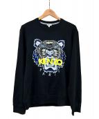 KENZO(ケンゾー)の古着「TIGER FACE CREW SWEAT」|ブラック
