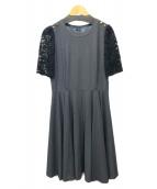 Lois CRAYON(ロイスクレヨン)の古着「ブラウスワンピース」|グレー