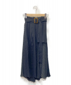 Snidel(スナイデル)の古着「プリーツディテールスカート」|ブラック