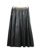 EPOCA(エポカ)の古着「フェイクレザースカート」|ブラック