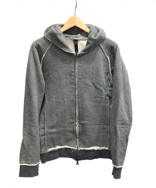 wjk(ダブルジェイケイ)wjk (ダブルジェイケイ) オニ裏毛パーカー グレー サイズ:Mの古着・服飾アイテム