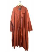 My Beautiful Landlet(マイビューティフルランドレット)の古着「damp tambler long coat」|オレンジ