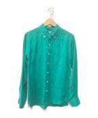 Traditional Weatherwear(トラディショナルウェザーウェア)の古着「ボタンダウンシャツ」|グリーン