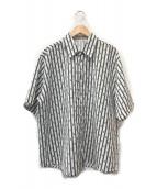 ()の古着「ワイドシルエットS/Sシャツ」|ホワイト×ブラック