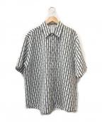 OY(オーワイ)の古着「ワイドシルエットS/Sシャツ」|ホワイト×ブラック