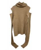 ELIN(エリン)の古着「Ribbed cuff knit」|ブラウン