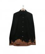ANN DEMEULEMEESTER(アンドゥムルメステール)の古着「シャツ」|ブラック