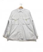 ROTOL(ロトル)の古着「ストライプ柄シャツ」 ホワイト