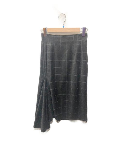 kei shirahata(ケイシラハタ)kei shirahata (ケイ シラハタ) デザインスカート グレー ペンチェックの古着・服飾アイテム