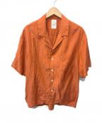 Name.(ネーム)の古着「コットンシルクシャツ」 オレンジ