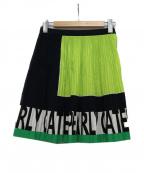 PEARLY GATES(パーリーゲイツ)の古着「ミニスカート」|ネイビー×イエロー