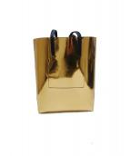 ()の古着「メタリックショッピングトートバッグ」 ゴールド