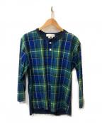 GANRYU(ガンリュウ)の古着「プルオーバーシャツ」 ブルー×グリーン