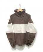 KIIT(キート)の古着「アノラックパーカー」|ブラウン×ホワイト