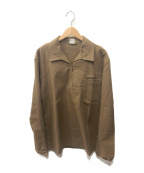 OTAVAN TREBON()の古着「プルオーバーシャツ」 ブラウン