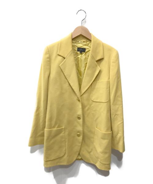 GUCCI(グッチ)GUCCI (グッチ) カシミヤジャケット イエロー サイズ:40の古着・服飾アイテム