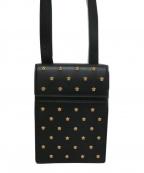 VERSACE(ヴェルサーチ)の古着「メドゥーサスタッドショルダーバッグ」|ブラック