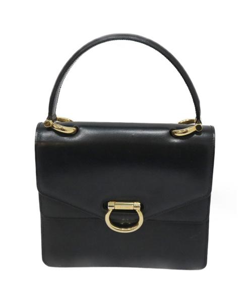 CELINE(セリーヌ)CELINE (セリーヌ) ヴィンテージWフラップハンドバッグ ブラック F/02の古着・服飾アイテム