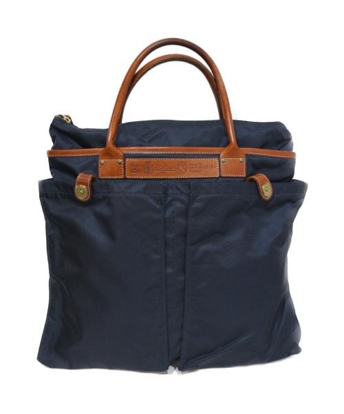 Felisi(フェリージ)Felisi (フェリージ) ハンドバッグ ネイビー×ブラウンの古着・服飾アイテム
