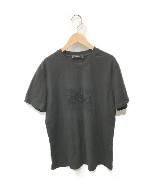 VERSACE(ヴェルサーチ)VERSACE (ヴェルサーチ) プリントTシャツ ブラック サイズ:52の古着・服飾アイテム