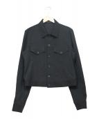()の古着「W/GABARDINE BLOUSON」|ブラック