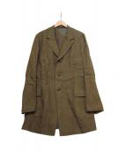 YohjiYamamoto pour homme(ヨウジヤマモトプールオム)の古着「リネンキュビズムジャケット」|カーキ