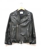 SUB-AGE.(サベージ)の古着「レザーライダースジャケット」|ブラック