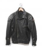 NO BLAND(ノーブランド)の古着「BMWパッチライダースジャケット」 ブラック