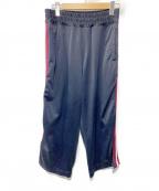 VOTE MAKE NEW CLOTHES(ヴォートメイクニュークローズ)の古着「SIDE LINE JERSEY WIDE PT」|ネイビー