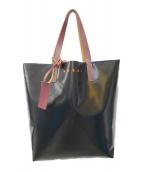 MARNI(マルニ)の古着「バイカラートートバッグ」|ネイビー