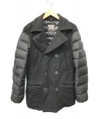 ()の古着「ダウン切替Pコート」|ブラック