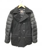 DUVETICA(デュベティカ)の古着「ダウン切替Pコート」|ブラック
