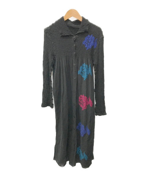 me ISSEY MIYAKE(ミーイッセイミヤケ)me ISSEY MIYAKE (ミーイッセイミヤケ) ブラウスワンピース ブラック サイズ:表記なしの古着・服飾アイテム