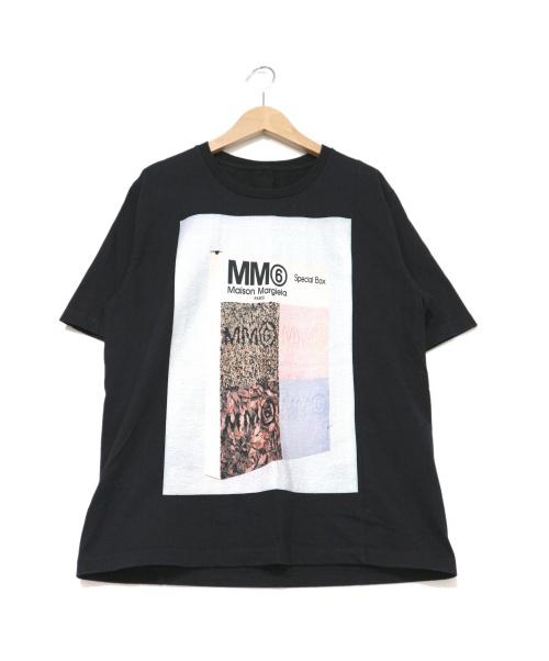 MM6 Maison Margiela(エムエムシックス メゾンマルジェラ)MM6 Maison Margiela (エムエムシックス メゾンマルジェラ) プリントTシャツ ブラック×ホワイト サイズ:S マルジェラの古着・服飾アイテム