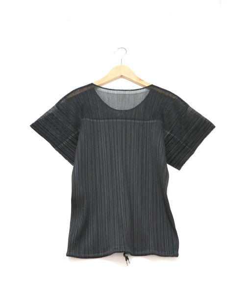 PLEATS PLEASE(プリーツプリーズ)PLEATS PLEASE (プリーツプリーズ) プリーツカットソー ブラック サイズ:3の古着・服飾アイテム