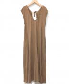 R JUBILEE()の古着「Back ribbon Dress」|ベージュ