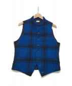 ()の古着「ウール切替ベルト」 ブルー