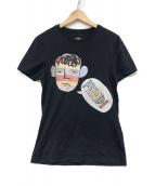 ()の古着「イラストレーションプリントTシャツ」|ネイビー