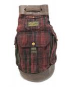 RRL(ダブルアールエル)の古着「ウール切替バッグ」|レッド×ブラウン