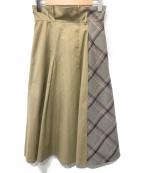 BLUE LABEL CRESTBRIDGE()の古着「ロングスカート」|ベージュ