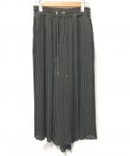 DIESEL()の古着「プリーツスカート」|ブラック