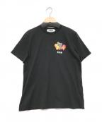 MSGM(エムエスジーエム)の古着「ワンポイントロゴTシャツ」 ブラック