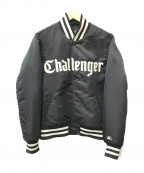 CHALLENGER×Starter BLACK LABEL(チャレンジャー×スターター・ブラックレーベル)の古着「ナイイロンスタジアムジャケット」|ブラック