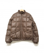 SUPREME()の古着「Leather Down Jacket」 ブラウン
