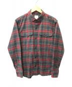 ()の古着「チェックネルシャツ」|ネイビー×レッド